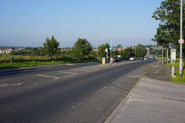 The A58 heading towards Bolton