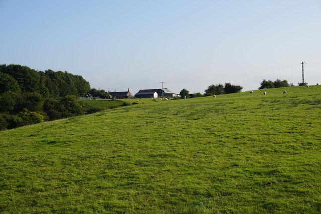 Farmland above Knutshaw Bridge