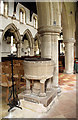 TL2744 : St Mary, Guilden Morden - Font by John Salmon