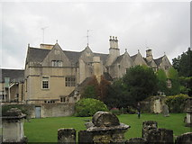 SP1106 : Rear View of Bibury Court Hotel by Les Hull