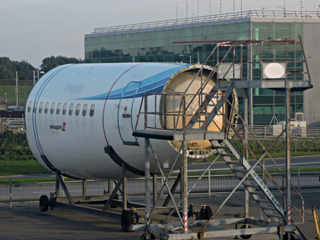Aircraft mock-up at Stansted Airport