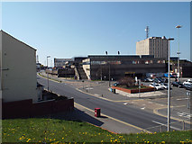 SD3035 : Blackpool Police Station, the courts, and Chapel Street car park by Robin Stott