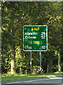 TM1164 : Roadsign on the A140 Ipswich Road by Adrian Cable