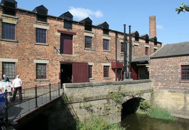 Tail-race bridge at Thwaite Mill
