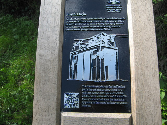 Information board regarding the nearby concrete structure
