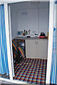SX9262 : Inside a new beach hut by Richard Dorrell