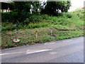 SZ5589 : Yellow hydrant marker and hydrant, Main Road, Havenstreet by Jaggery
