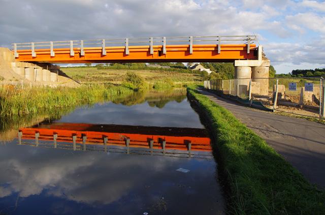 Temporary bridge over Lancaster Canal
