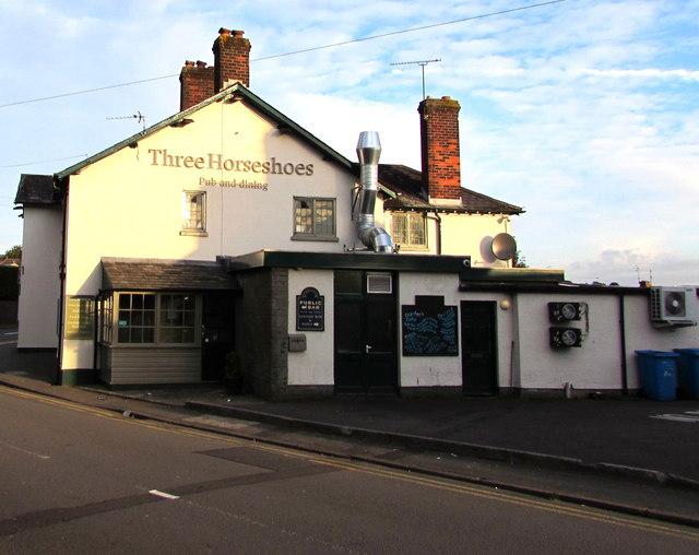 East side of the Three Horseshoes pub & dining, Malpas, Newport