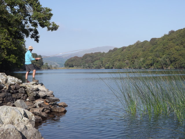 Fishing on Llyn Cynwych