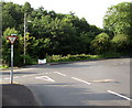 ST2096 : Ildiwch/Give Way sign in Newbridge by Jaggery