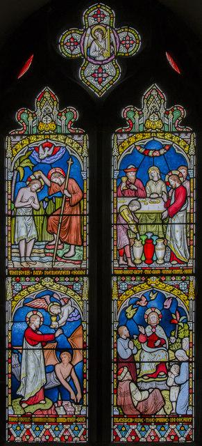 Stained glass window, All Saints' church, Legbourne