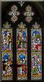 TF3684 : Stained glass window, All Saints' church, Legbourne by Julian P Guffogg