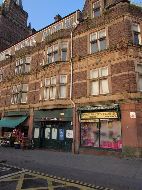 Joan Davies Florist and  Shopmobility, Newport city centre