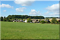 TL0215 : Studham Common and houses on Kensworth Road by Robin Webster