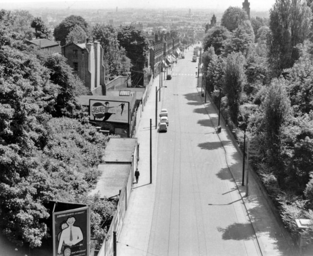 London (Haringey, 1959: southward from Highgate Archway, 1959