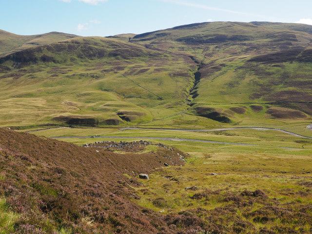 Post-glacial debris flow (looking downhill)