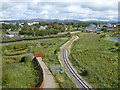 Q8213 : Tralee Bay Wetlands  and light railway by Oliver Dixon