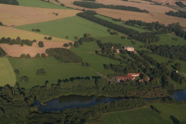 Raynham Hall: aerial 2015