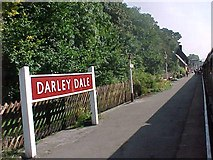 SK2762 : Darley Dale railway station by Tim Glover