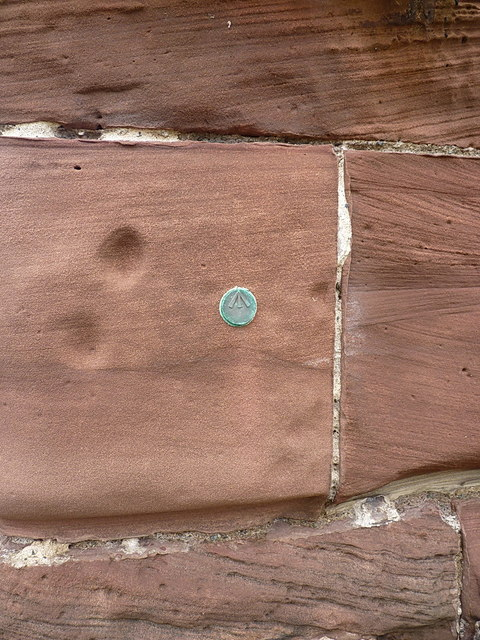 Unknown benchmark stud - Eskmeals viaduct