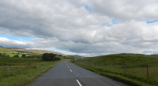 The A822 heading north