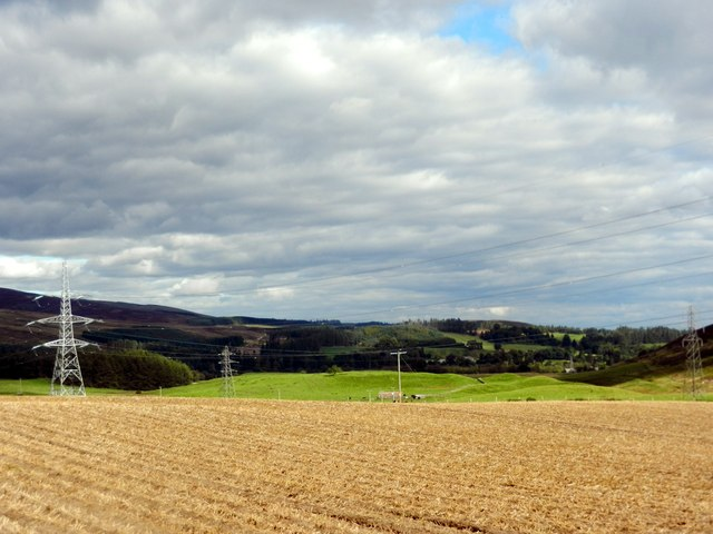 Beautiful scene over the valley of the Fendoch Burn