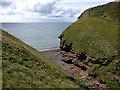 NX9413 : Into Fleswick Bay from the Coastal Path by Richard Law