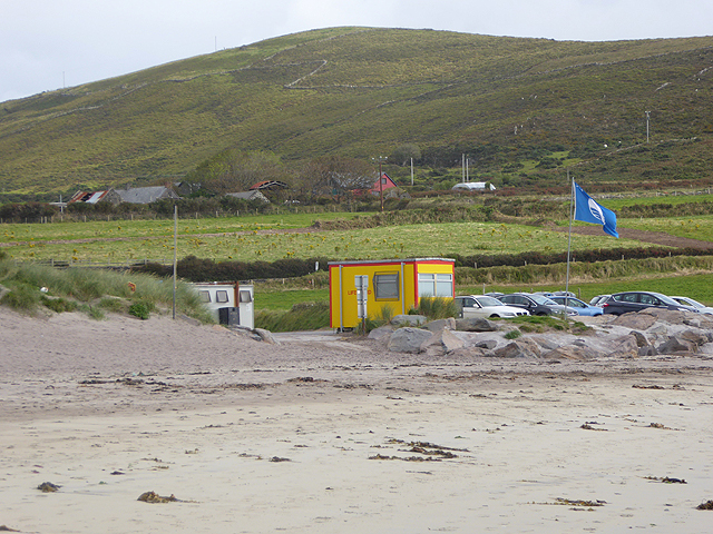 Car park at Ventry Strand