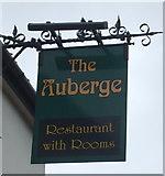 TM1172 : Sign for the Auberge, Thornham Parva by JThomas