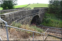 SD8656 : Railway bridge east of Hellifield by Roger Templeman