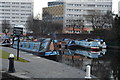 SP0686 : Narrowboats moored by N Chadwick
