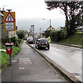 ST2096 : Narrower road for 250 yards ahead, Newbridge by Jaggery