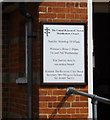 TM1065 : Mendlesham United Reformed Church sign by Adrian Cable