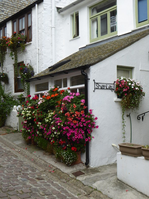 Flower display at 'Shenley' in Bunkers Hill St Ives