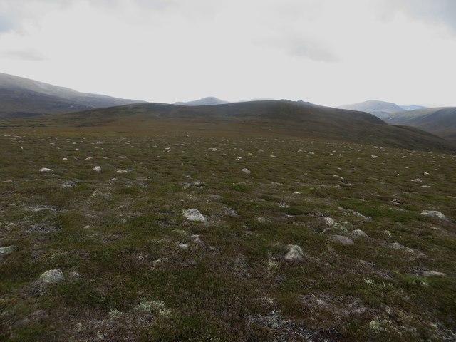 Barren upland landscape