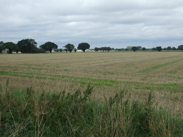 Stubble field near Short Green