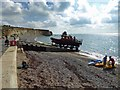 SZ3485 : Bringing in the independent lifeboat at Freshwater Bay by Steve  Fareham