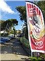 SZ4795 : Yacht store and ice cream banner Gurnard Bay (IOW) by Steve  Fareham