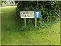 TM1168 : Church Lane sign by Adrian Cable
