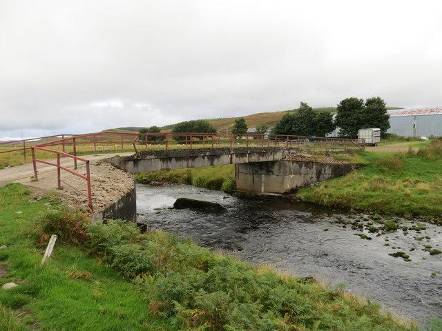 Road bridge over the Halladale River at Forsinain Farm