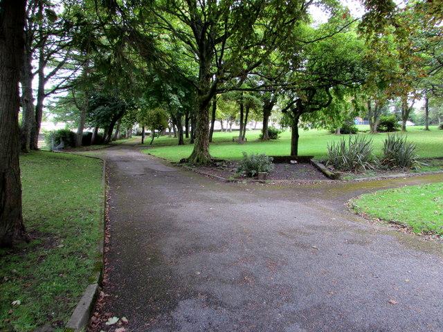 Path junction in  Blaenavon Park, Blaenavon