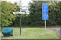 SP4701 : Triangle at road junction by Roger Templeman