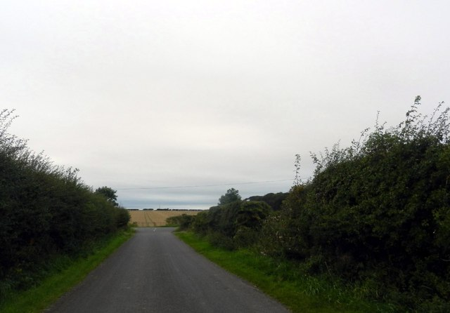 Road junction between Halfland Barns and Blackdykes