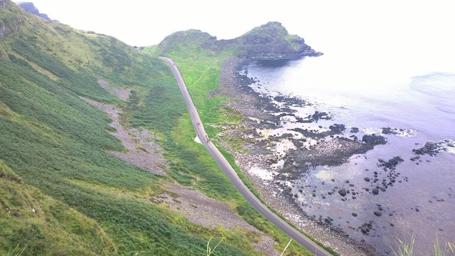 Tourist Bus Road along the Giant's Causeway