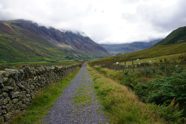 Cycle route 82 in Nant Ffrancon