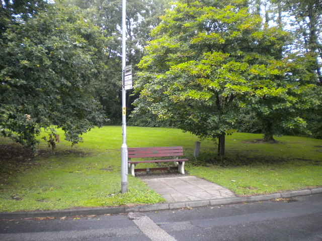 Sodden bus stop, Thelwall New Road, Thelwall