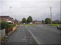 SJ5990 : Harrison Square roundabout, Dallam by Richard Vince