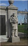 TQ7668 : Statue at entrance to Naval War Memorial, Chatham by David Kemp
