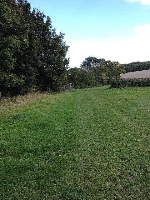 Harlton footpath view